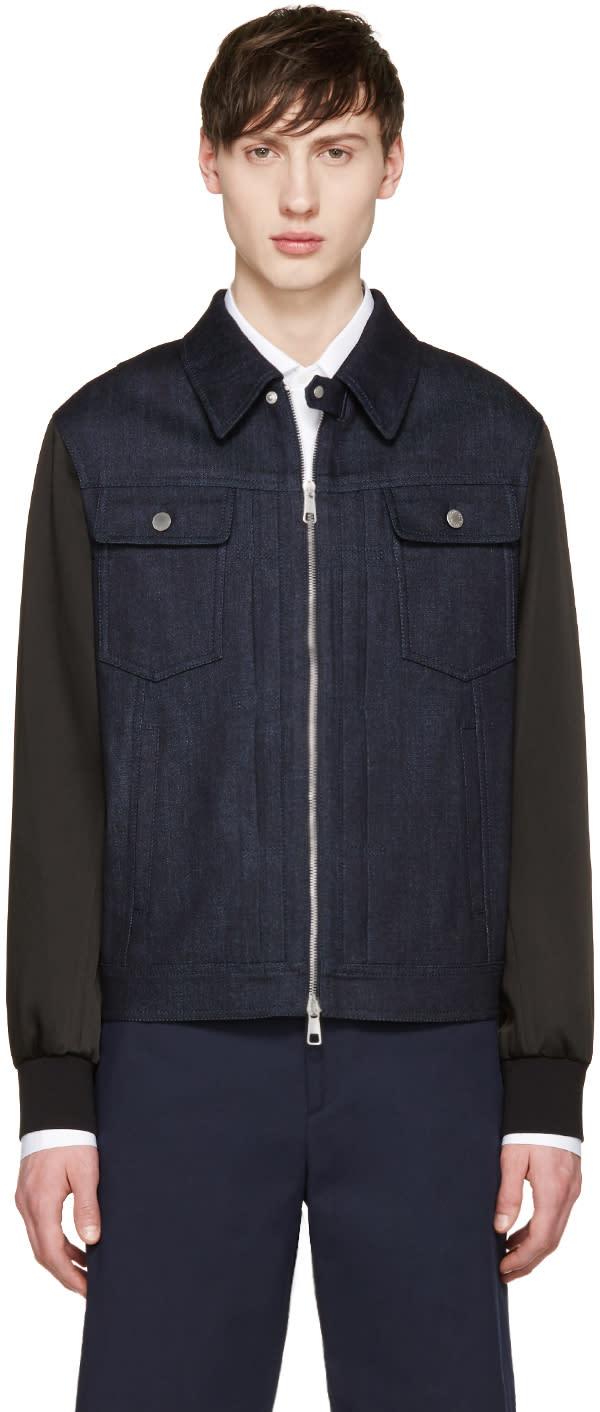 Neil Barrett Indigo Denim Combination Jacket