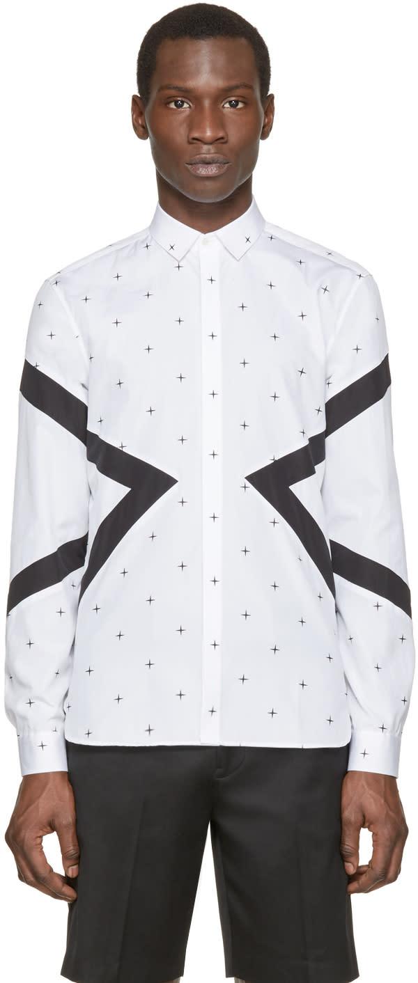 Neil Barrett White North Star Modernist Shirt