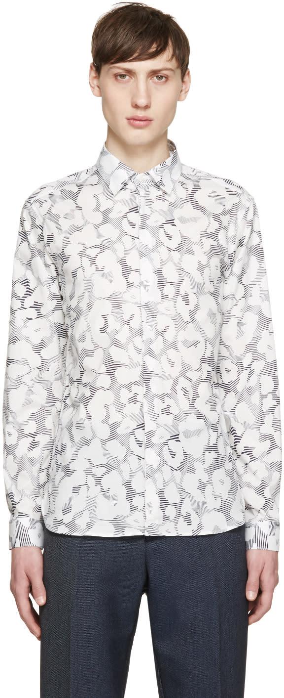 Neil Barrett White Leopard Print Shirt
