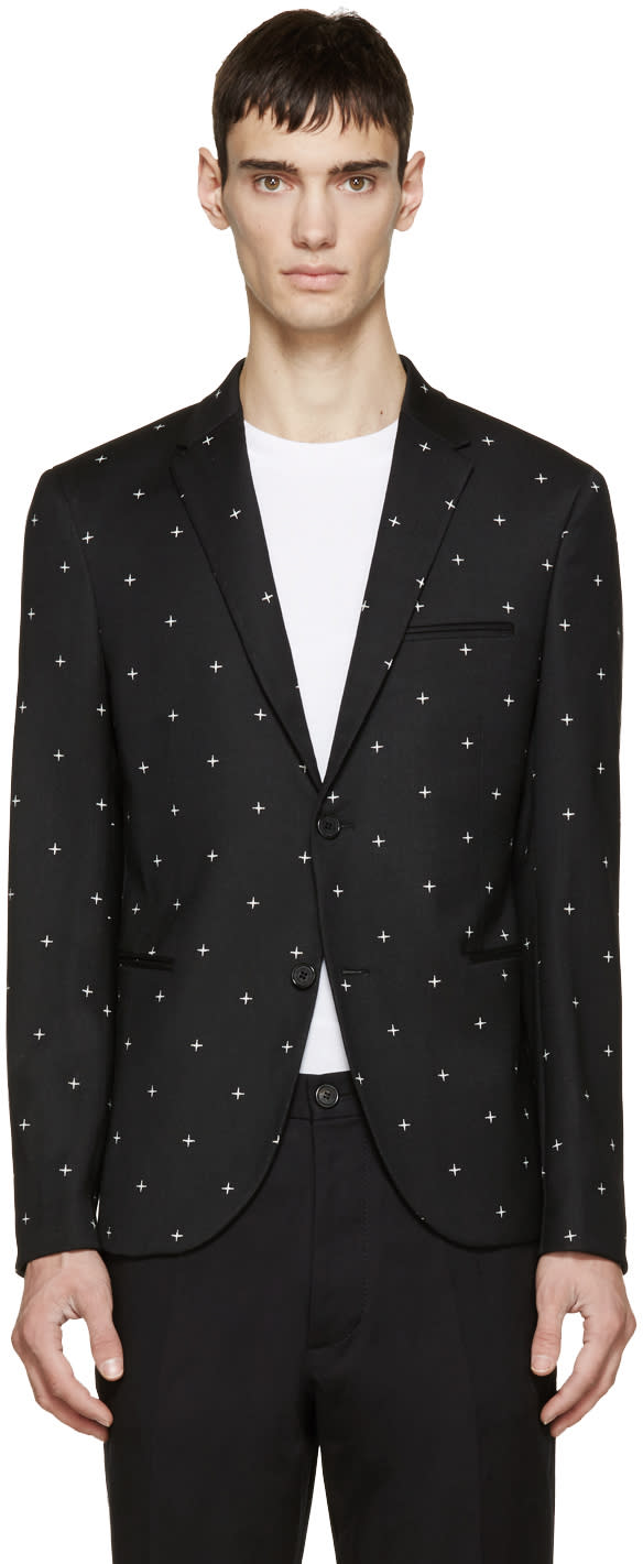 Neil Barrett Black North Star Blazer