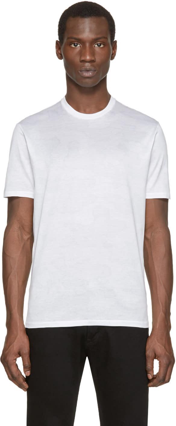 Neil Barrett White Camouflage T-shirt