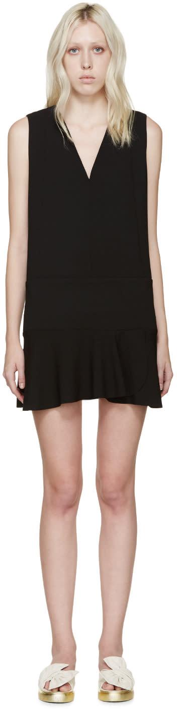 See By Chloé Black Ruffled Dress