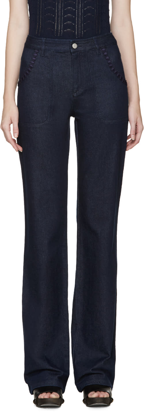 See By Chloé Indigo Flared Jeans