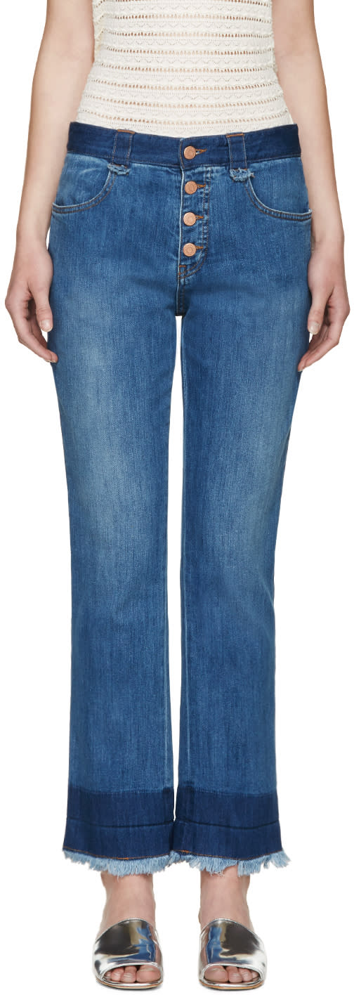 See By Chloé Indigo Dip-dyed Jeans
