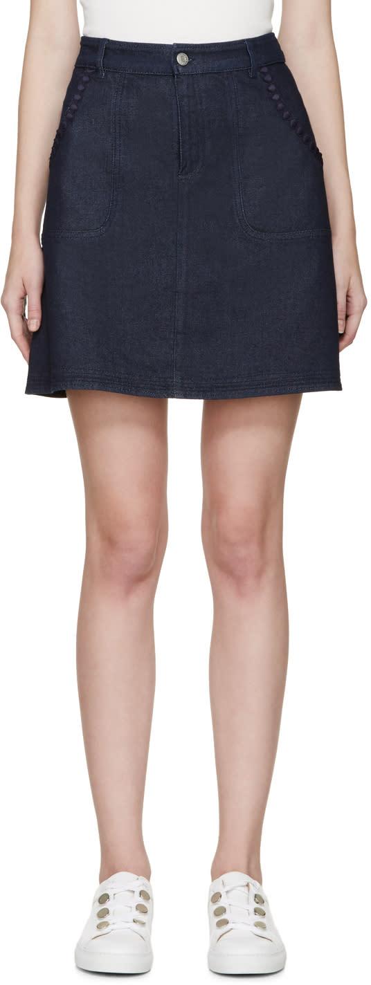 See By Chloé Blue Denim Skirt