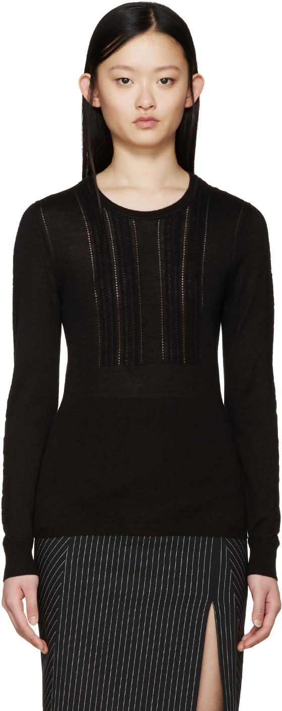 Burberry Prorsum Black Cashmere Sweater at ssense.com men and women fashion