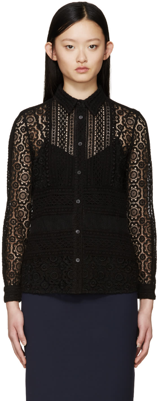 Burberry Prorsum Black Lace Blouse at ssense.com men and women fashion