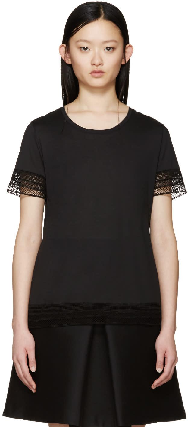 Burberry Prorsum Black Broderie Anglaise T-shirt at ssense.com men and women fashion