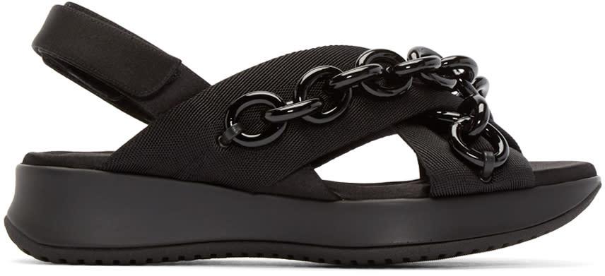 Burberry Prorsum Black Chain Actonshire Sandals at ssense.com men and women fashion