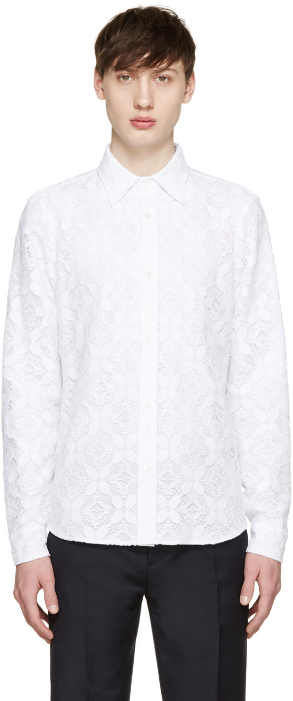 Image of Burberry Prorsum White Lace Shirt