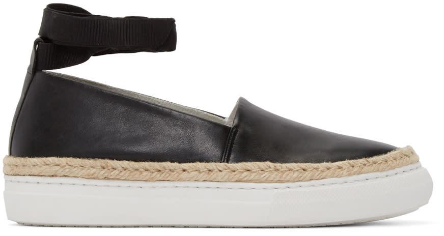 Pierre Hardy Black Leather Baskedrille Sneakers