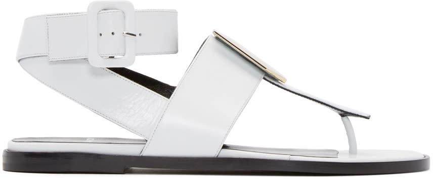 Pierre Hardy White De Dor Cube Sandals