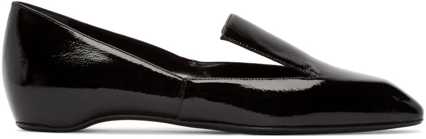 Pierre Hardy Black Patent Leather Polly Loafers