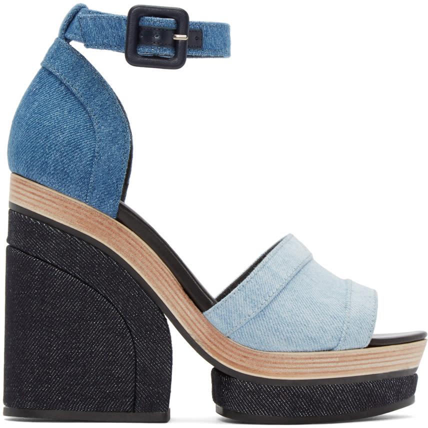 Pierre Hardy Blue Denim Charlotte Sun Sandals