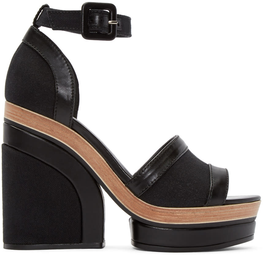 Image of Pierre Hardy Black Denim Charlotte Sun Sandals