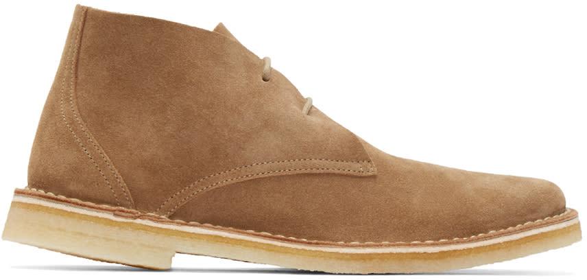 Pierre Hardy Tan Suede Desert Boots