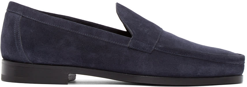 Pierre Hardy Navy Suede Loafer
