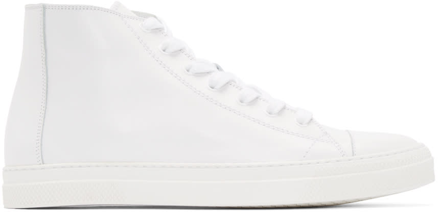 Pierre Hardy White Leather Frisco Sneakers