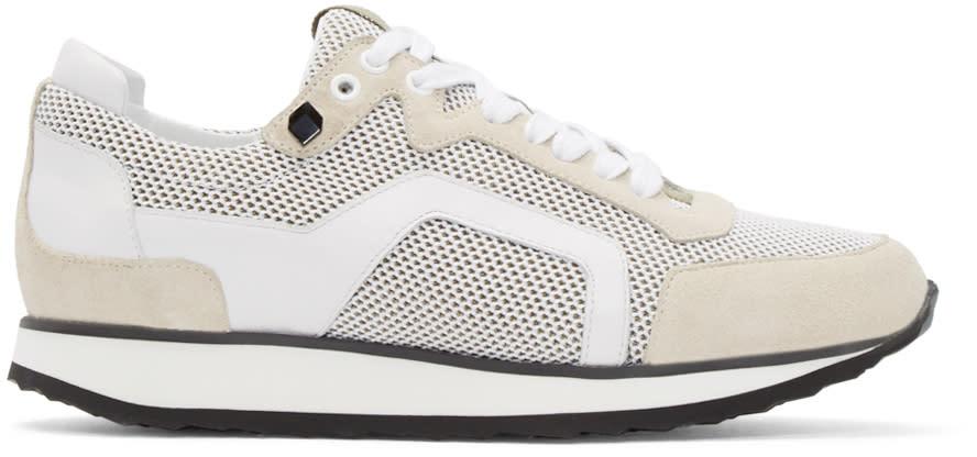 Pierre Hardy White Mesh Sneakers