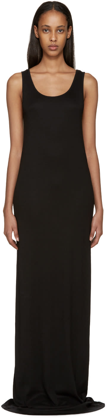 Ann Demeulemeester Black Jersey Moco Dress