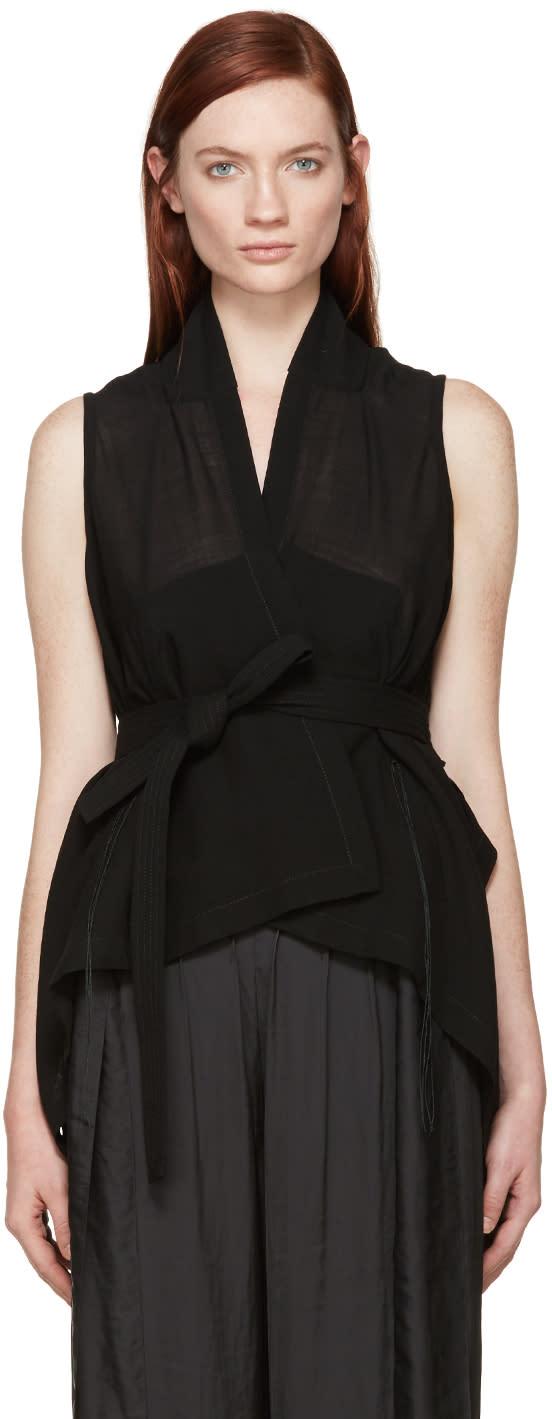 Ann Demeulemeester Black Milana Wrap Vest