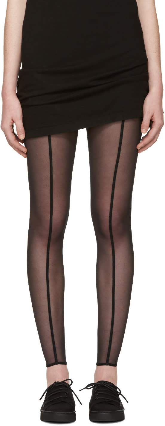 Ann Demeulemeester Black Tule Leggings