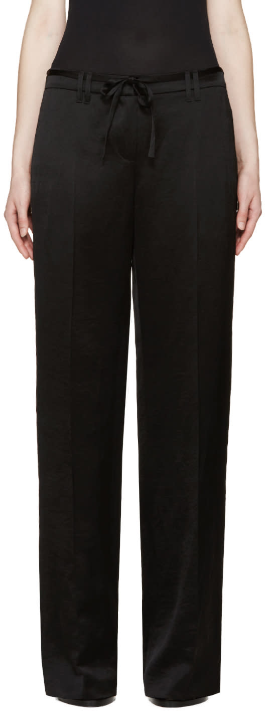 Ann Demeulemeester Black Satin Delight Trousers