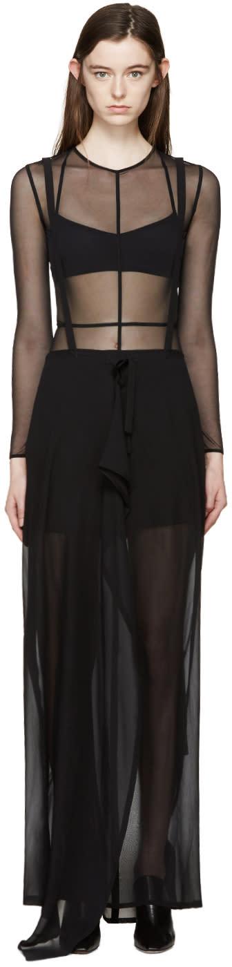 Ann Demeulemeester Black Wrap Infinity Skirt