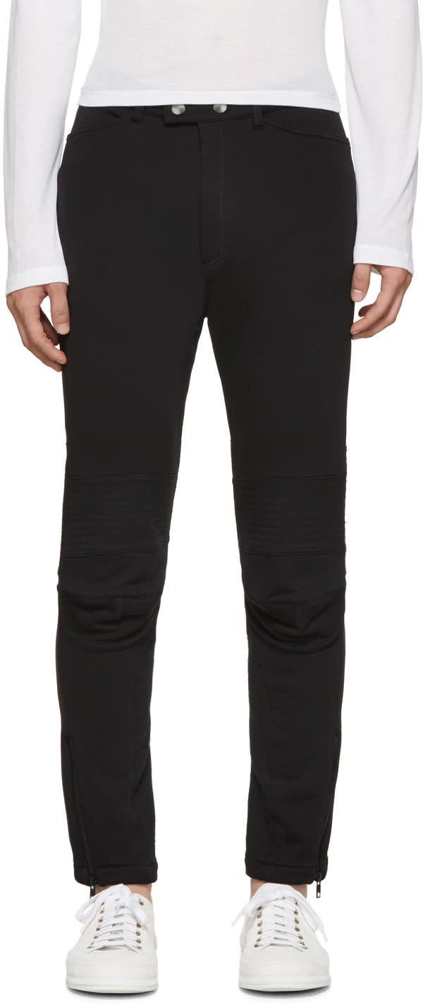 Ann Demeulemeester Black Biker Lounge Pants