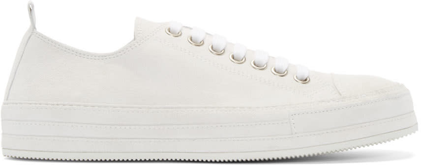 Ann Demeulemeester Ivory Suede Low-top Sneakers