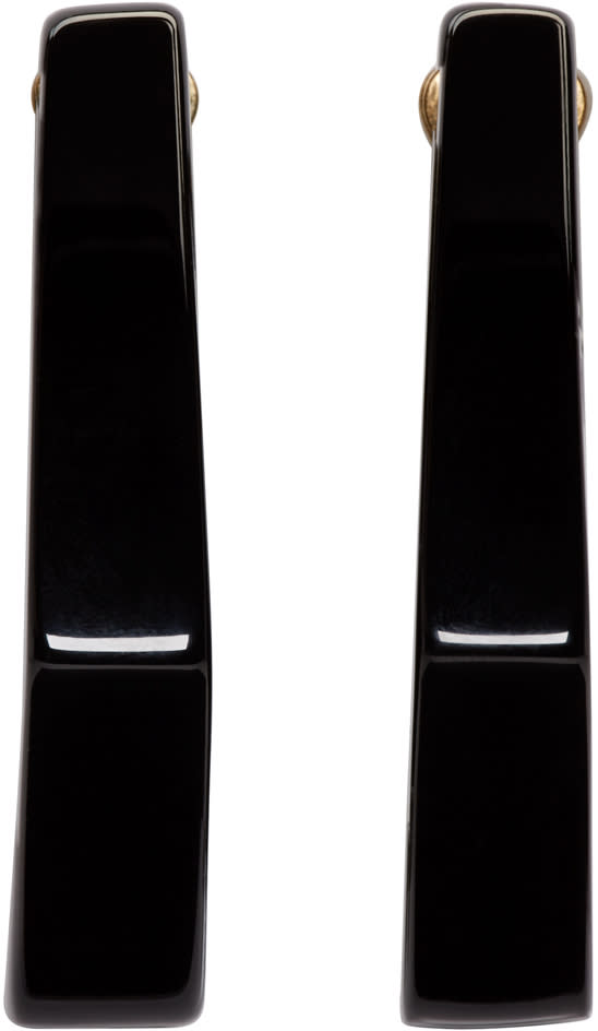 Marni Black Geometric Earrings