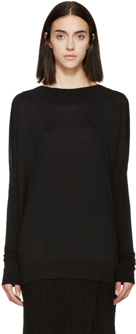 Marni Black Wool and Silk Sweater