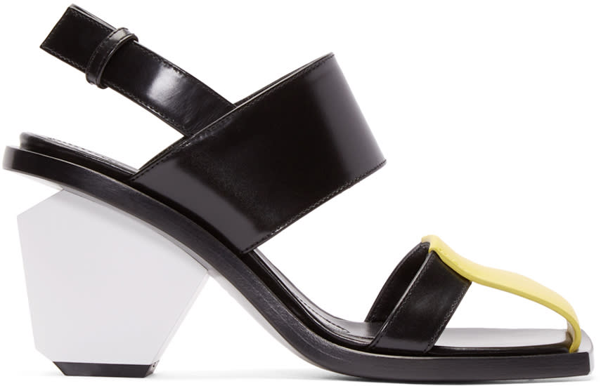 Marni Tricolor Leather Colorblock Heels