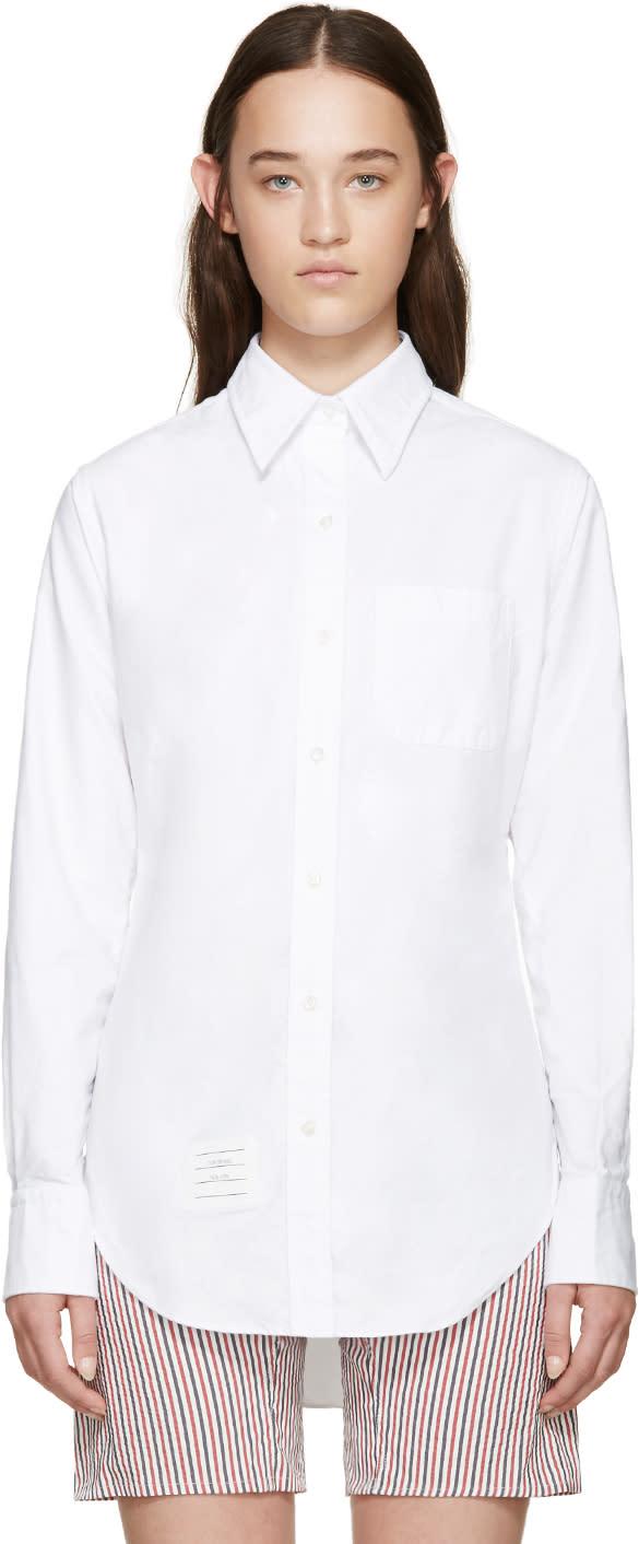 Thom Browne White Classic Pc Bd Shirt