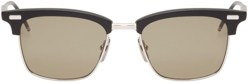 43f8cc1c8f4 Thom Browne Black And Silver Matte Sunglasses