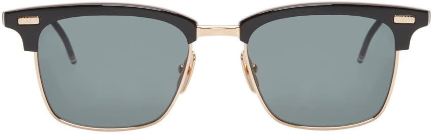 Thom Browne Black and Gold Sunglasses