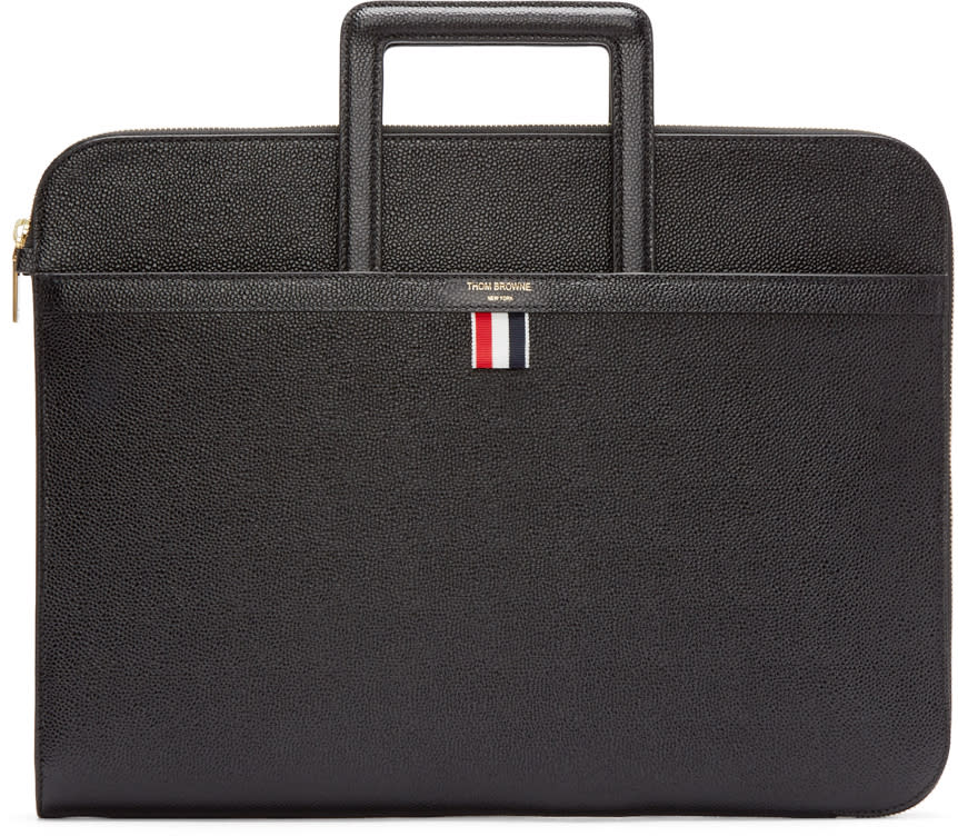Thom Browne Black Handle Briefcase