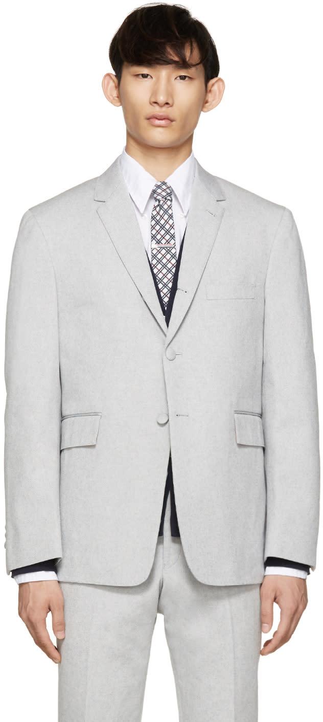 Thom Browne Grey Oxford Blazer