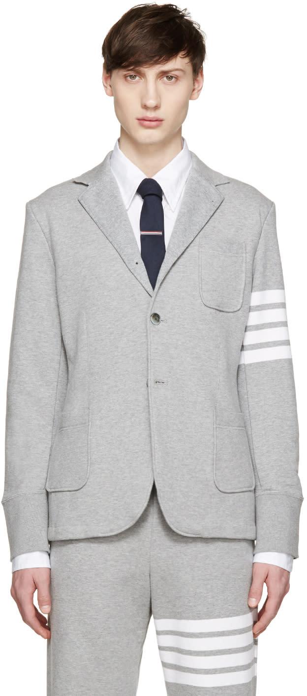Thom Browne Grey Classic Sport Blazer