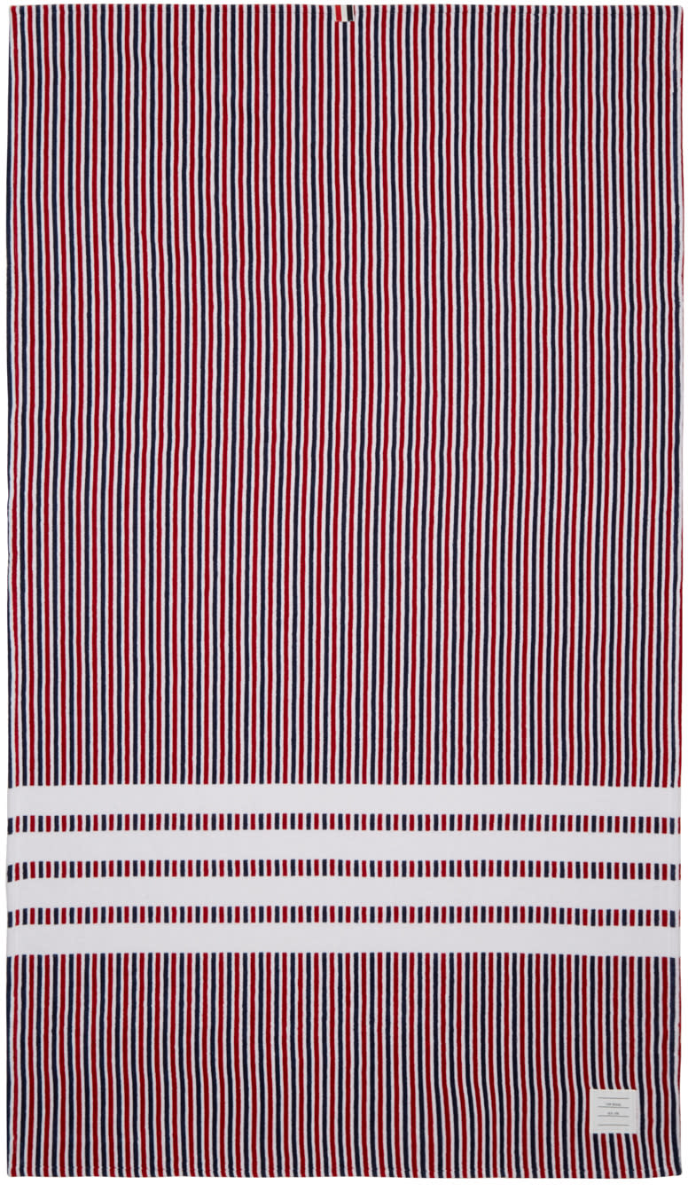 Thom Browne Tricolor Striped University Towel