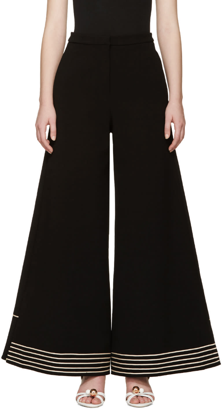 Roksanda Black Crepe Julie Trousers
