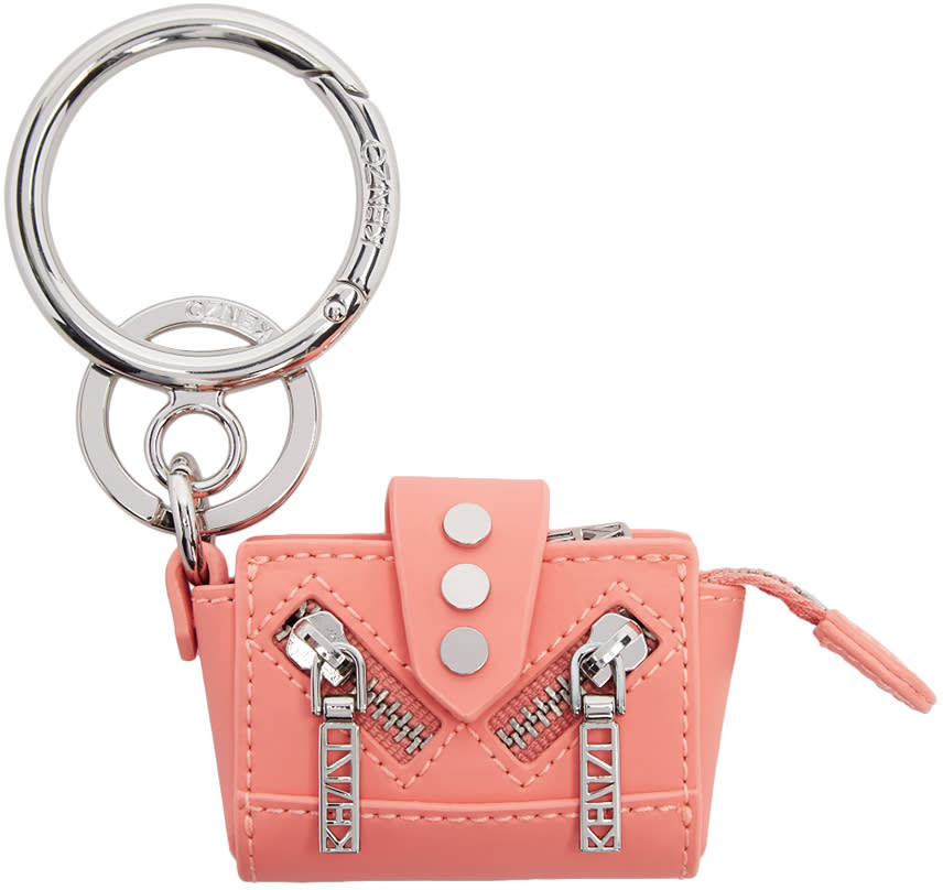 Kenzo Pink and Silver Kalifornia Keychain