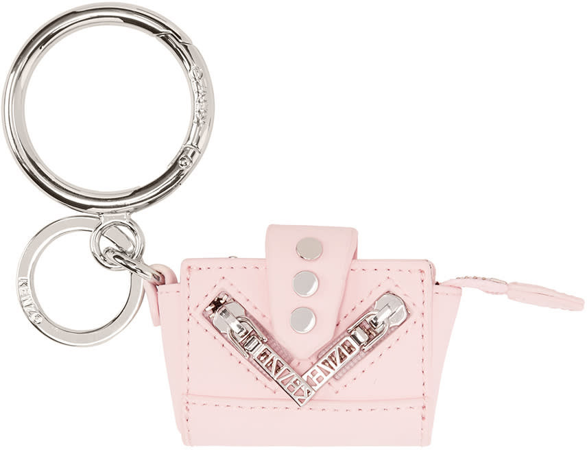 Kenzo Pink Leather Duffle Coin Pouch