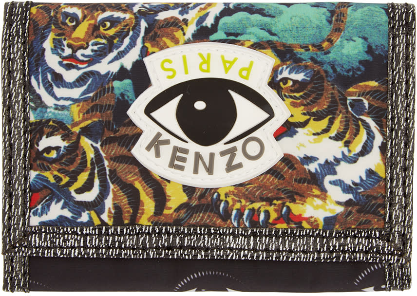 Kenzo Multicolored Flying Tiger Wallet