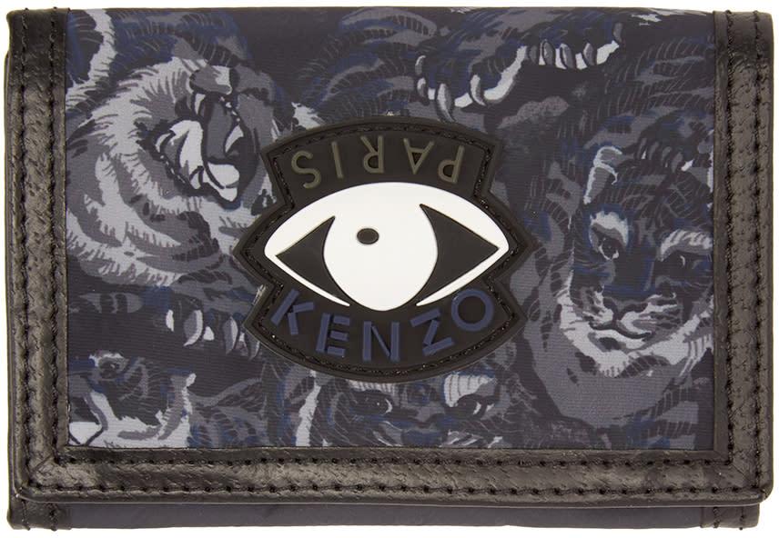Kenzo Black Flying Tiger Wallet