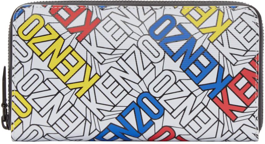Kenzo Multicolor Diagonal Logo Wallet