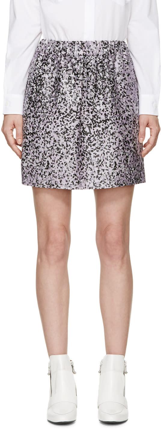 Kenzo Purple Jacquard Leopard Miniskirt