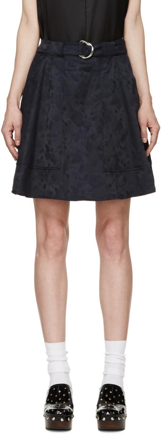 Kenzo Navy Moonmap Miniskirt