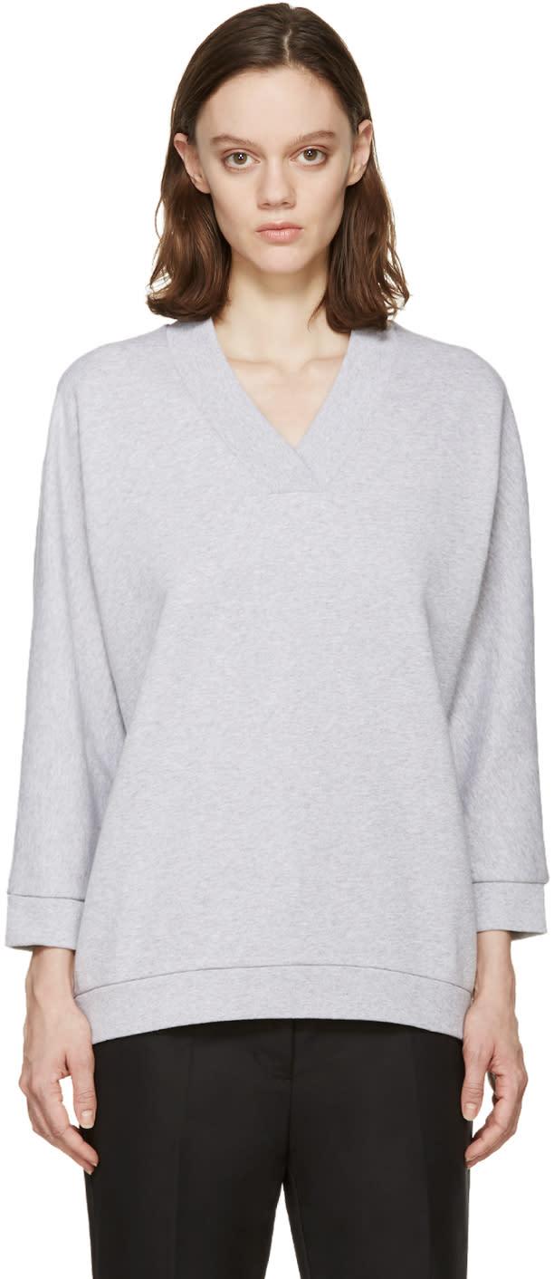Kenzo Grey V-neck Pullover