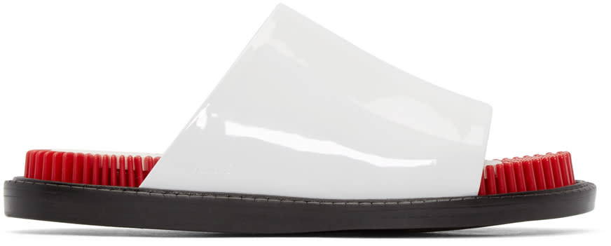 Kenzo White Patent Leather Sandals